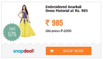 Flazors Yellow Georgette Anarkali Gown Semi Stitched Dress