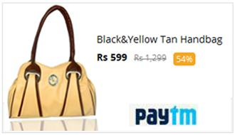 Black & Yellow Tan Handbag