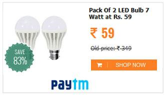 RB High Quality 7W LED Bulb (Pack Of 2)
