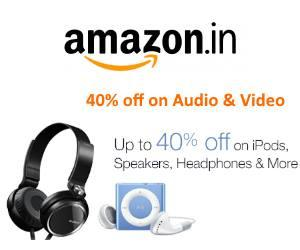 40% off on Audio and Video