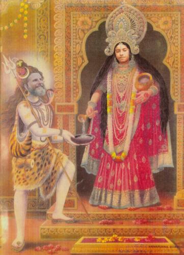 Anapurna Mata with Shiva