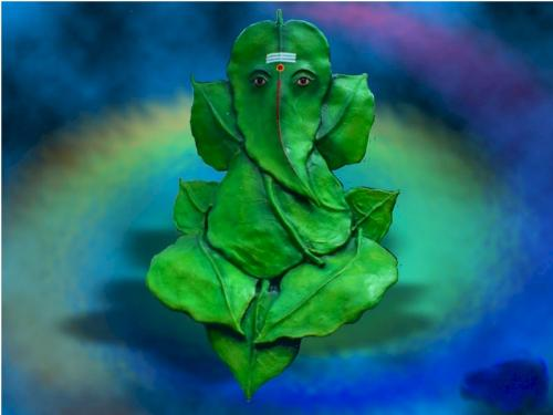 Ganesha on Leaf