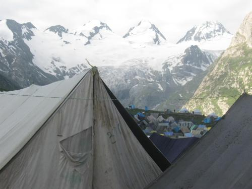 Enchanting View of Sheshnaag Parabt from Sheshnaag Camp