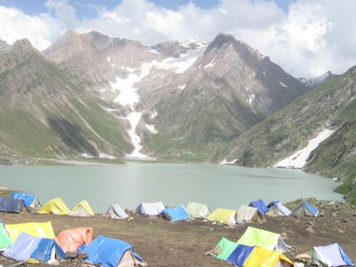 Camps Near Sheshnaag Lake during Amarnath Yatra