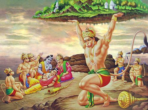 Murchit Lakshman and Hanuman Brings Sanjeevani Buti.....