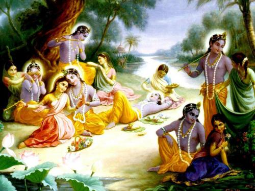 Lord Radha & Krishna Raslila wallpaper............