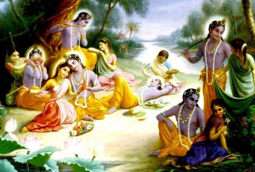 Lord Radha & Krishna Raslila wallpaper................