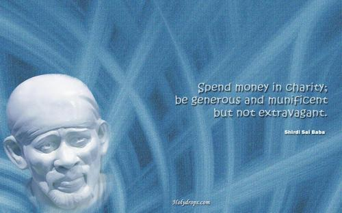 Quotes wallpapers Sai Baba Quote On Charity