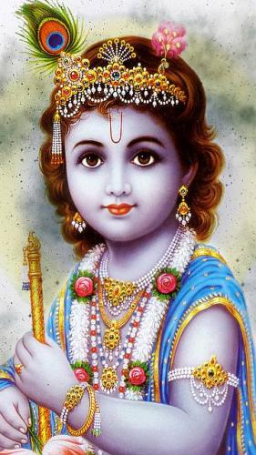Photo Gallery » Lord Krishna Balroop Mobile Wallpaper