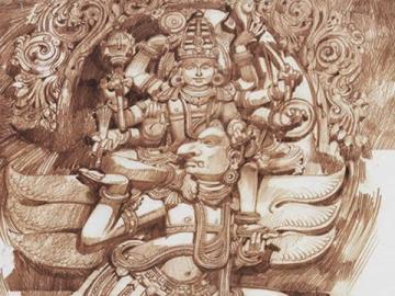 Vishnu Riding Garuda Mobile Wallpaper
