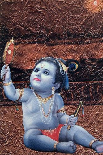 Photo Gallery » Krishna Bal Roop Iphone 4 Wallpaper