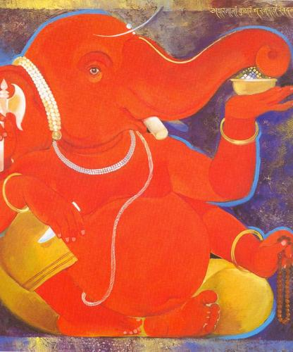 Mobile Wallpapers Red Ganeshji Wallpaper For Samsung Galaxy
