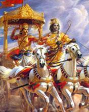 176x220 Mobile Wallpapers Krishna As Sarthi Of Arjun In