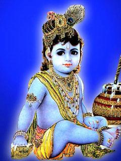 Makhan Chor Balgopal Mobile Wallpaper