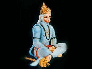 Photo Gallery » Hanuman Ji sitting posture Mobile Wallpaper
