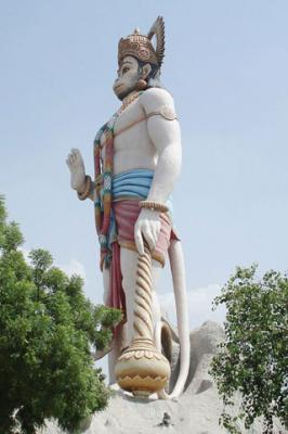 Hanuman JI at Agroha Mobile Wallpaper