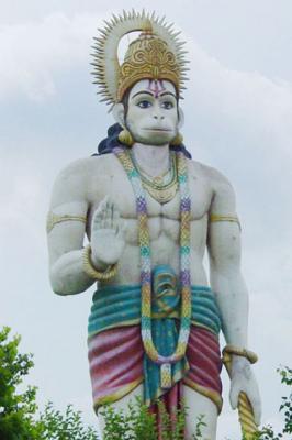 Hanuman JI at Agroha Mobile Wallpaper