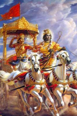 Krishna Arjuna Mahabharta Mobile Wallpaper