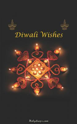 Diwali HD wallpaper with Rangoli and Diyas
