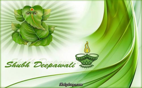 Beautiful Ganesh diwali HD wallpaper