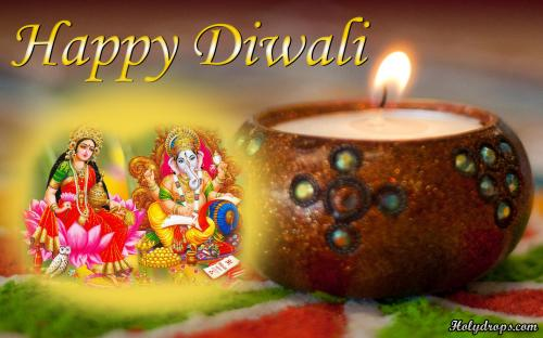 Deepawali HD wallpaper of Ganesh and Laxmi